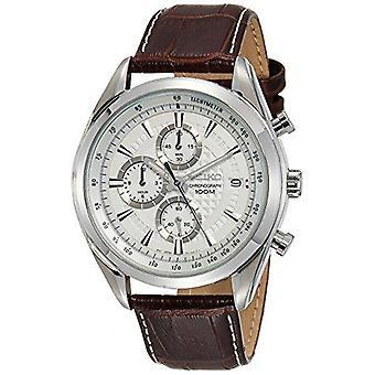 Seiko Kleid Quarz Chronograph weiß Zifferblatt Herren Uhr SSB181P1