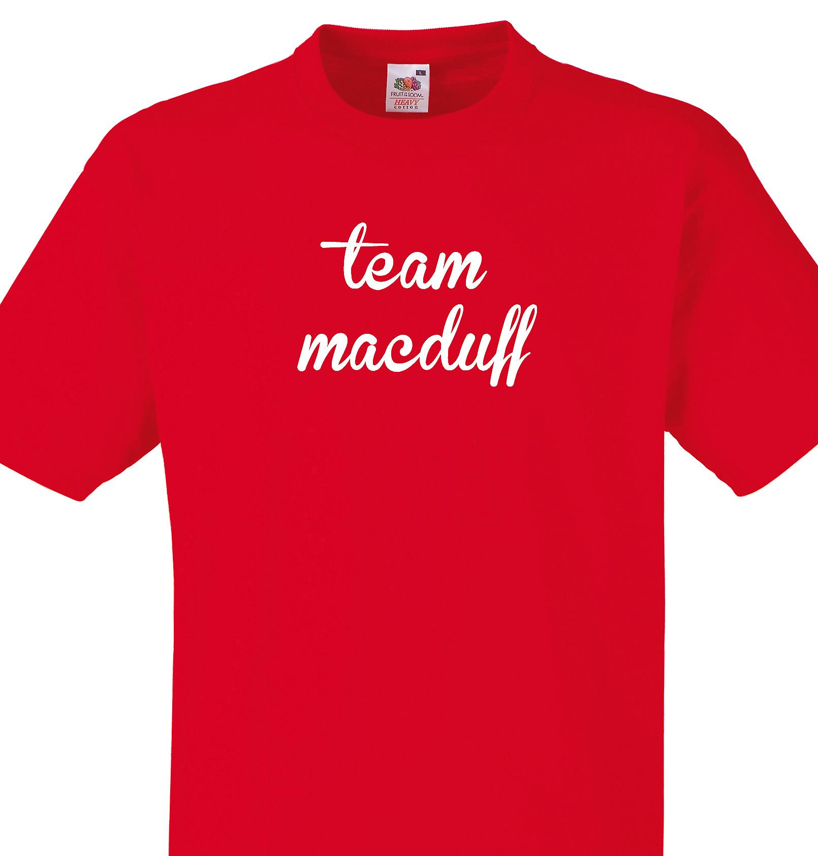 Team Macduff Red T shirt