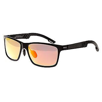 Breed Pyxis Titanium Polarized Sunglasses - Black/Red-Yellow