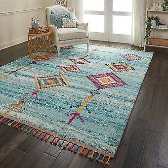 Nómada Nourison NMD04 rectángulo Aqua alfombras alfombras tradicionales