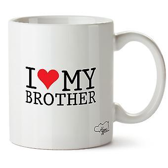 Hippowarehouse jeg elsker min bror trykt krus Cup keramiske 10 Unzen