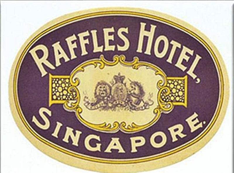 Raffles Hotel Singapore (version 1) fridge magnet (ep)