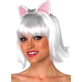Kitty Bob biała peruka dla dorosłych