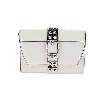 Prada White Leather Shoulder Bag