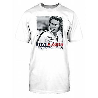 Steve Mcqueen - pasión por la velocidad para hombre camiseta
