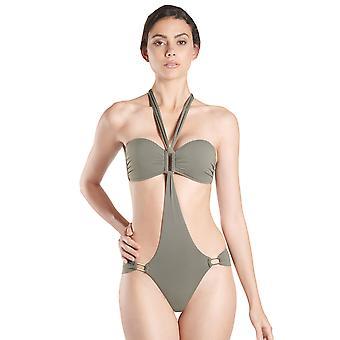 Aubade NV67 Women's Esprit Sauvage Kaki Green Trikini