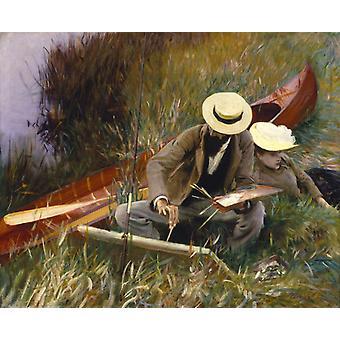 En out-of-Door studie, John Singer Sargent, 50x40cm