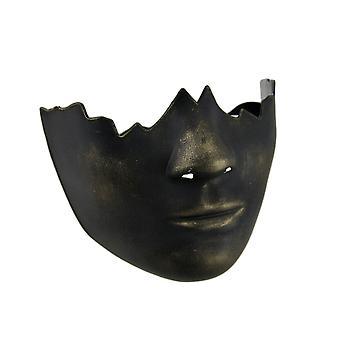 Finition de l'or noir cassée demi masque