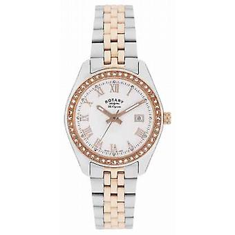 Rotatif Womens Lausanne, deux tons, Or Rose, Watch Crystal LB90111/01