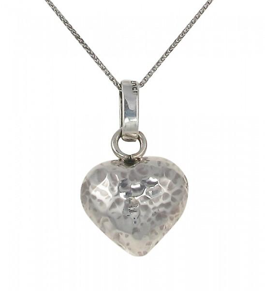 Cavendish French Silver Beaten Heart Pendant