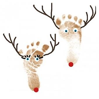 Gigantisk finger, hånd & Foot ut Paint pad til jul håndverk, kort, blekk, reinsdyr, misteltein, juletre.