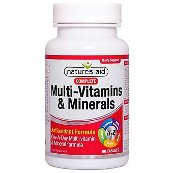 Nature's Aid Complete Multi-Vitamins & Minerals Tablets 90