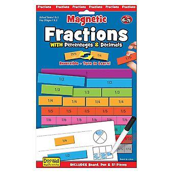 Fiesta Crafts magnetische breuken met decimalen en Percentages