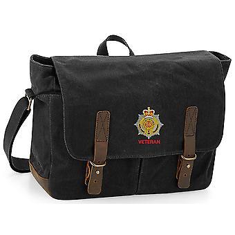 Royal Corps de transporte RCT veterano-licenciado British Army bordados encerado lona Messenger Bag