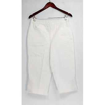 Denim & Co. Pantaloni Pull-on Stretch Capri Pantaloni Bianco A288103
