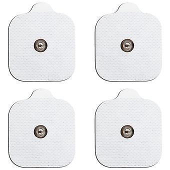 MED-FIT 5x5cm Pack of 16 Flexi Stim 3.5mm Stud TENS Self-Adhesive Pads