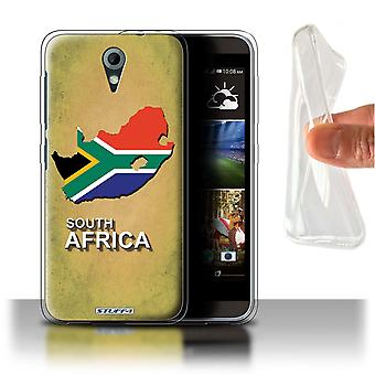 STUFF4 Gel/TPU Case/Cover for HTC Desire 820 Mini/South Africa/African/Flag Nations