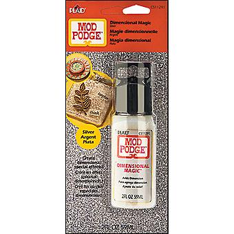 Mod Podge Dimensional Magic Glitter Silver Cs11291