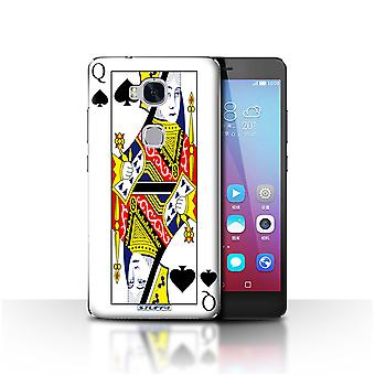 STUFF4 Case/Cover for Huawei Honor 5X/GR5/Queen of Spades/Playing Cards