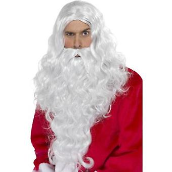 Smiffys Santa Dress Up Kit White With Wig & Beard (Costumes)