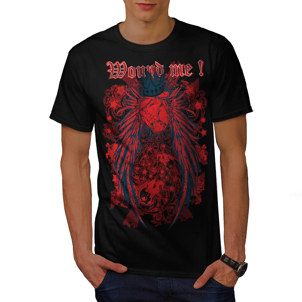 Wounded Heart Art Fashion Men Black T-shirt | Wellcoda