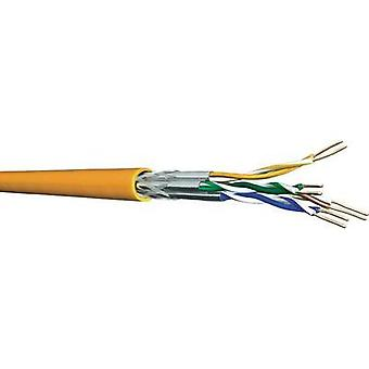Network cable CAT 7 S/FTP 4 x 2 x 0.25 mm² Orange DRAKA 1001036-00250DW Sold per metre