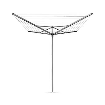 Brabantia Topspinner Rotary Clothes Dryer with 45 mm Metal Ground Spike 40 m
