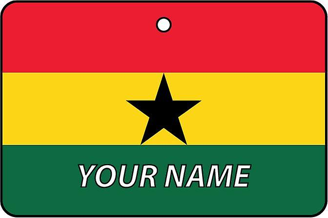 Ghana Flag Personalised Car Air Freshener