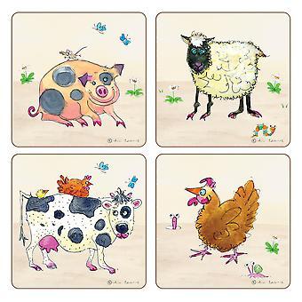 I Style Farmyard Coasters, Set of 4