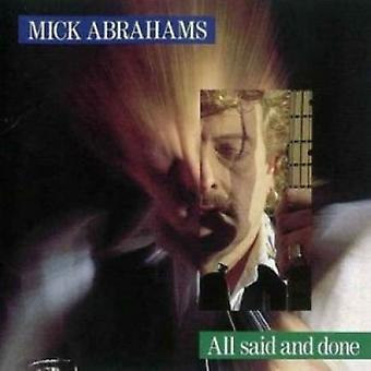 Mick Abrahams - alle sagde & gjort [CD] USA importerer
