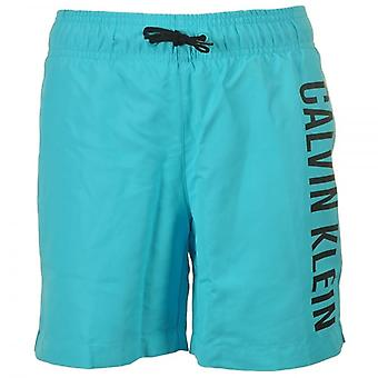 Calvin Klein Boys Intense Power Swim Shorts, Blue Atoll, XXL