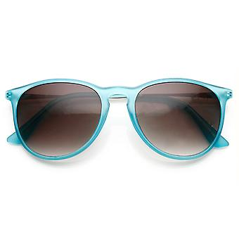 Retro Fashion Metal Arm Keyhole Bridge P3 Horn Rimmed Sunglasses