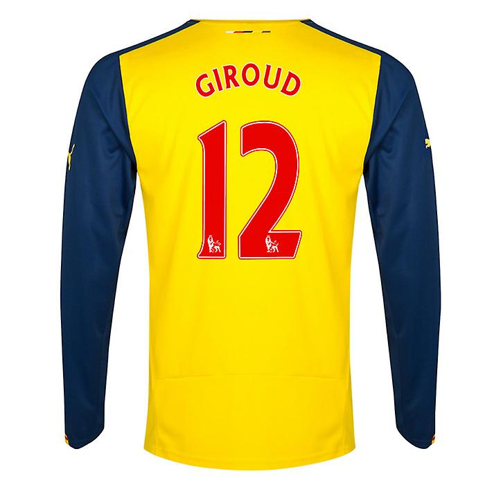 2014-15 Arsenal Long Sleeve Shirt (Giroud 12) - Enfants