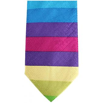 Knightsbridge Neckwear Kensington Striped Silk Tie - Multi-colour