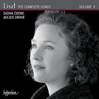 Liszt / Cooke, Sasha / Drake, Juluis - Liszt / Cooke, Sasha / Drake, Juluis: Complete Songs 4 [CD] USA import