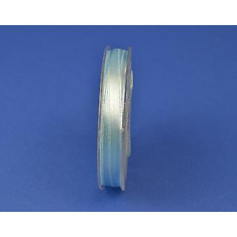 7mm Polyester Satin Craft Ribbon - 10m Reel - Baby Blue