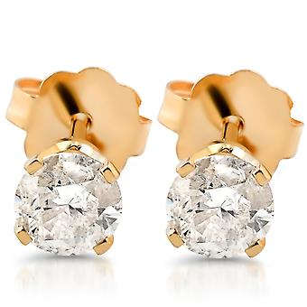 3/8ct Diamond Studs 14K Yellow Gold