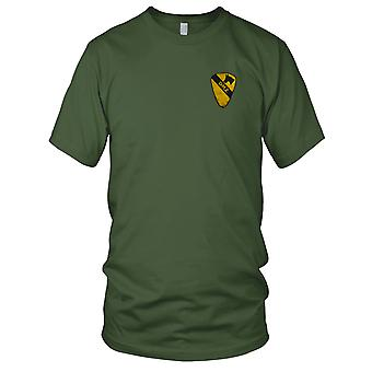 US Army Infantry 1st Cavalry - DMZ Military Insignia Vietnam War Embroidered Patch - Mens T Shirt
