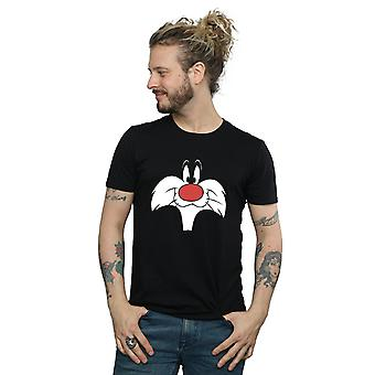 Looney Tunes Men's Sylvester Big Face T-Shirt