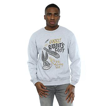 Looney Tunes Men's Bugs Bunny Rub Me The Wrong Way Sweatshirt