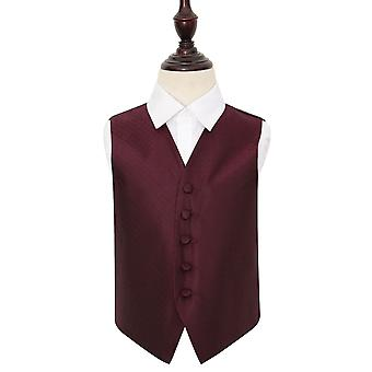 Boy's Burgundy Greek Key Wedding Waistcoat