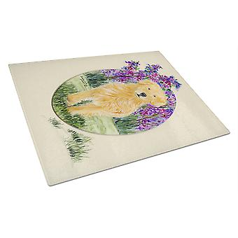 Carolines Treasures  SS8060LCB Golden Retriever Glass Cutting Board Large