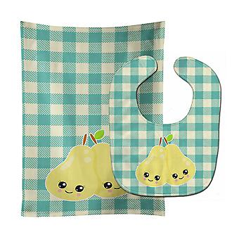 Carolines Treasures  BB9138STBU Pears Baby Bib & Burp Cloth
