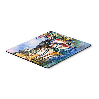 Fly Creek Fish Market Mouse Pad, Hot Pad or Trivet