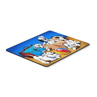 Dalmatians playing ball Mouse Pad, Hot Pad or Trivet