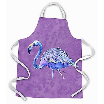 Carolines Treasures  8874APRON Flamingo on Purple Apron