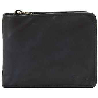 Ashwood Spitalfields 6 kort Bill Fold Herre læder tegnebog