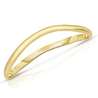 10k Fine Gold Thin Comfort Fit Curved Wave Thumb Ring (1.5mm)