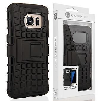 Caseflex Samsung Galaxy S7 støtteben Combo sag - sort