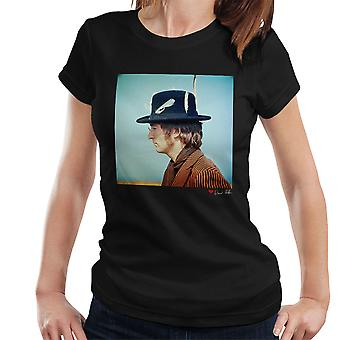 John Lennon With Feather Hat Women's T-Shirt